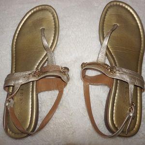 Gold COACH sandals!
